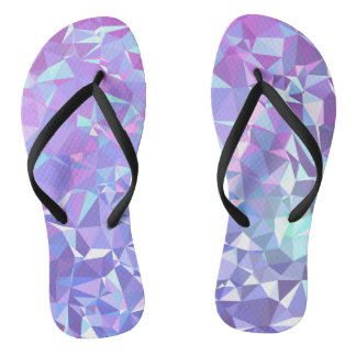 LoveGeo Abstract Geometric Design - Orchid Skies Thongs