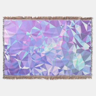 LoveGeo Abstract Geometric Design - Orchid Skies Throw Blanket