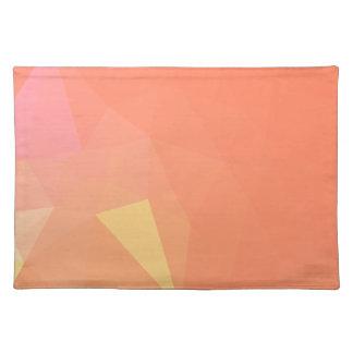 LoveGeo Abstract Geometric Design - Peach Pie Placemat