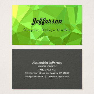 LoveGeo Abstract Geometric Design - Pear Virtue Business Card