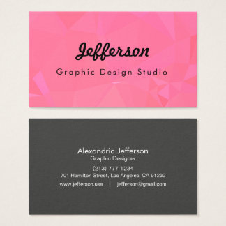 LoveGeo Abstract Geometric Design - Rose Ponder Business Card
