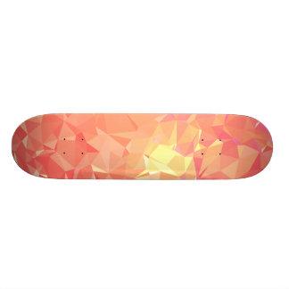 LoveGeo Abstract Geometric Design - Salmon Punch 21.6 Cm Skateboard Deck