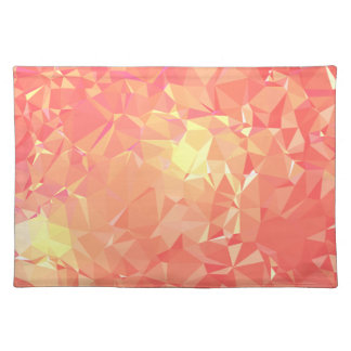 LoveGeo Abstract Geometric Design - Salmon Punch Placemat