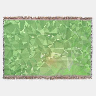 LoveGeo Abstract Geometric Design - Shamrock Gold Throw Blanket