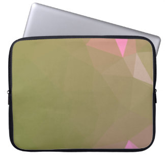 LoveGeo Abstract Geometric Design - Turtle Olive Laptop Sleeve