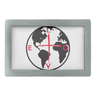 LoveGlobe316 - white background Belt Buckles