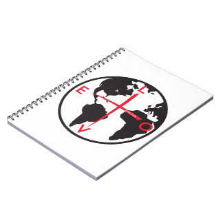 LoveGlobe316 - white background Notebook