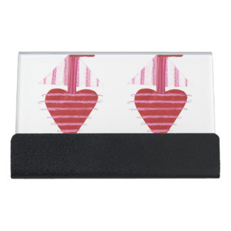 Loveheart Boat Desk Business Card Holder