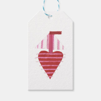 Loveheart Boat Gift Tags