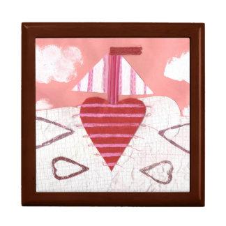 Loveheart Boat Jewellery Box
