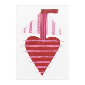 Loveheart Boat No Background Acrylic Poster Acrylic Print
