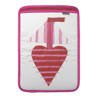 Loveheart Boat No Background Macbook Air Sleeve