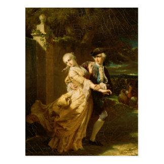 Lovelace Abducting Clarissa Harlowe, 1867 Postcard