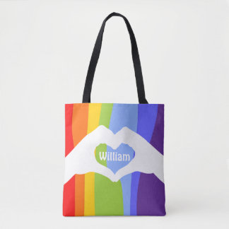 Loveley Hands of Heart white 1 + your ideas Tote Bag