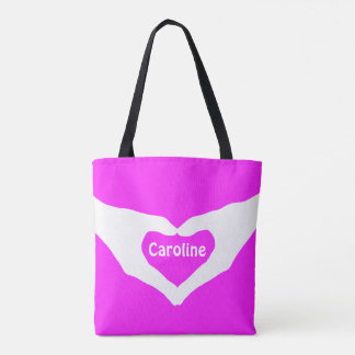 Loveley Hands of Heart white 2 + your ideas Tote Bag