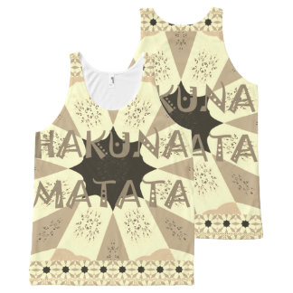 Lovely African Hakuna Matata Print Design All-Over Print Singlet
