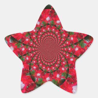 Lovely Alien Crimson Star Sticker