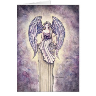 Lovely Angel Greeting Card by Molly Harrison