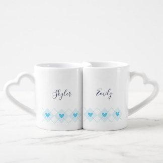 Lovely Argyle Coffee Mug Set