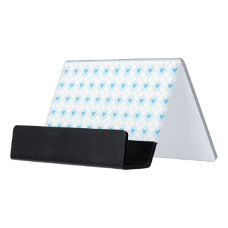Lovely Argyle Desk Business Card Holder