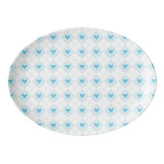 Lovely Argyle Porcelain Serving Platter
