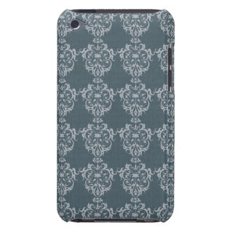 Lovely Art Nouveau Denim Floral Abstract Barely There iPod Cover