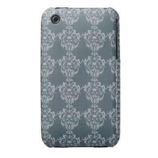 Lovely Art Nouveau Denim Floral Abstract iPhone 3 Cover