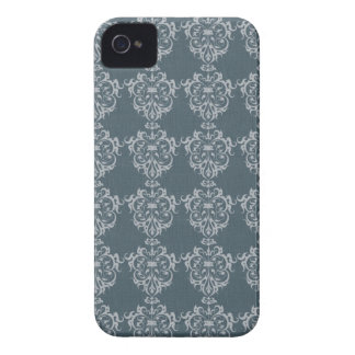 Lovely Art Nouveau Denim Floral Abstract iPhone 4 Cases