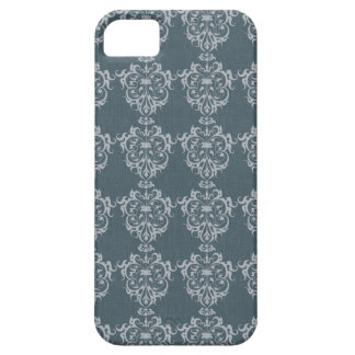 Lovely Art Nouveau Denim Floral Abstract iPhone 5 Cases