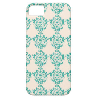 Lovely Art Nouveau Floral Abstract - Teal iPhone 5 Covers