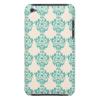 Lovely Art Nouveau Floral Abstract - Teal iPod Case-Mate Cases