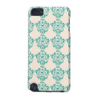 Lovely Art Nouveau Floral Abstract - Teal iPod Touch (5th Generation) Cover