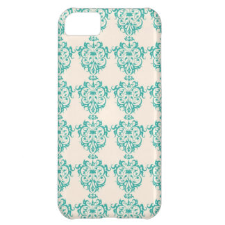 Lovely Art Nouveau Floral Abstract - Teal iPhone 5C Cases