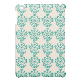 Lovely Art Nouveau Floral Abstract - Teal iPad Mini Cover