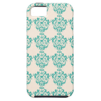 Lovely Art Nouveau Floral Abstract - Teal Tough iPhone 5 Case