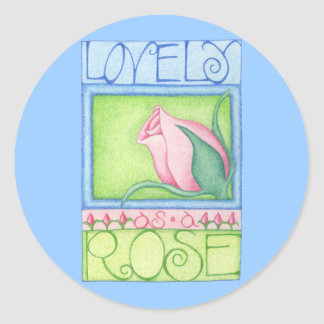 Lovely as a Rose Sticker