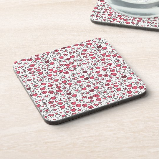 Lovely Assorted Hearts and Icons | Coaster