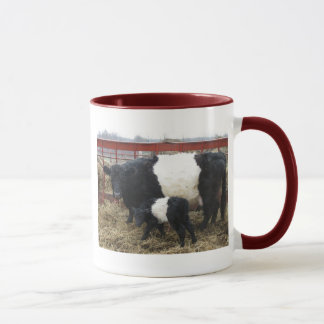 Lovely Beltie Cow and Calf Mug