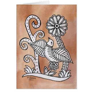Lovely Bird, Mexican Bark Style Card