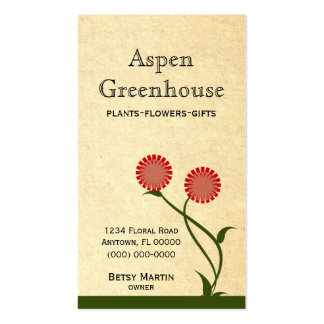Lovely Blooms Business Card Red