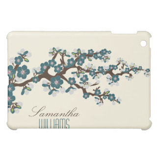 Lovely Blue Cherry Blossom  Cover For The iPad Mini