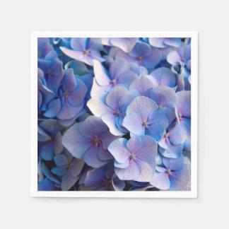 Lovely Blue Hydrangea Blossoms Disposable Serviettes