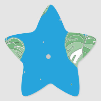 LOVELY BLUE STAR STICKER