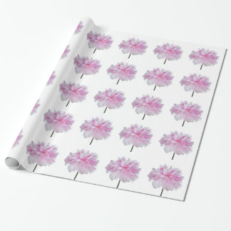 Lovely Bright wink Peony Flower Photo Wrapping Paper