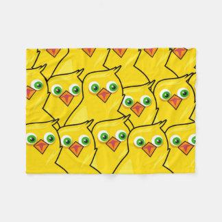 Lovely Bright Yellow Easter Chickens Fleece Blanket