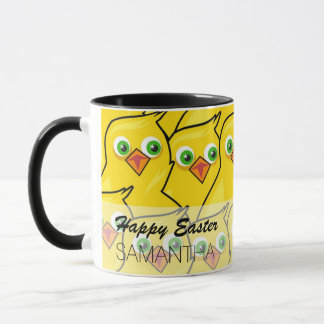 Lovely Bright Yellow Easter Chickens Mug