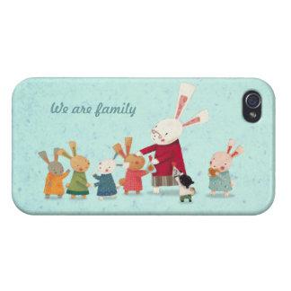 Lovely Bunny Rabbit Family iPhone 4 Case