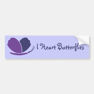 Lovely Butterfly Bumper Sticker