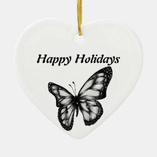 Lovely Butterfly Ceramic Heart Decoration
