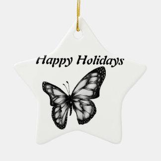 Lovely Butterfly Ceramic Star Decoration